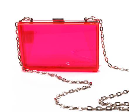 neon hard-case clutch