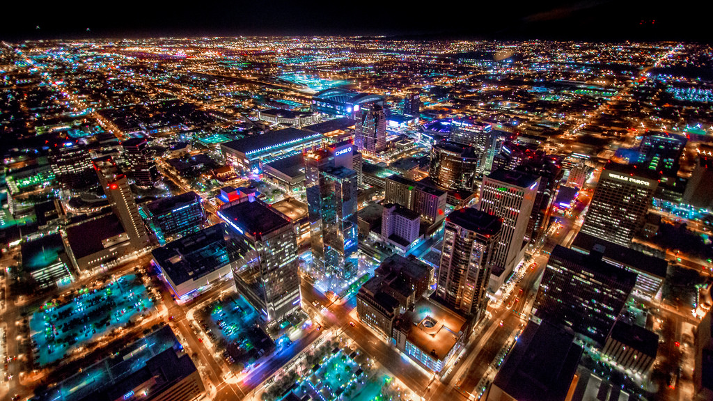 Phoenix, Arizona at night