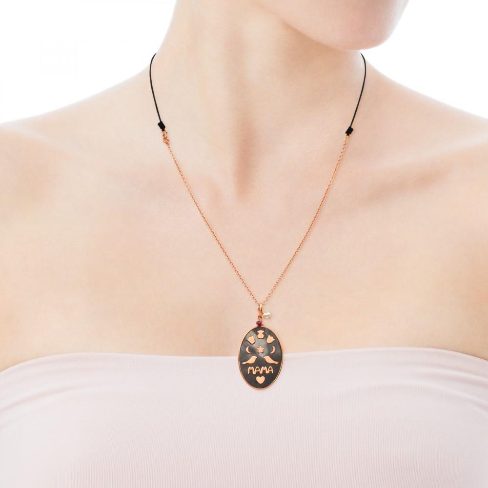 Silver Mama Pendant Necklace