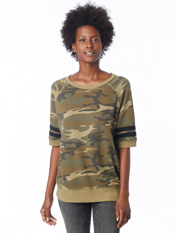 french terry camo shirt