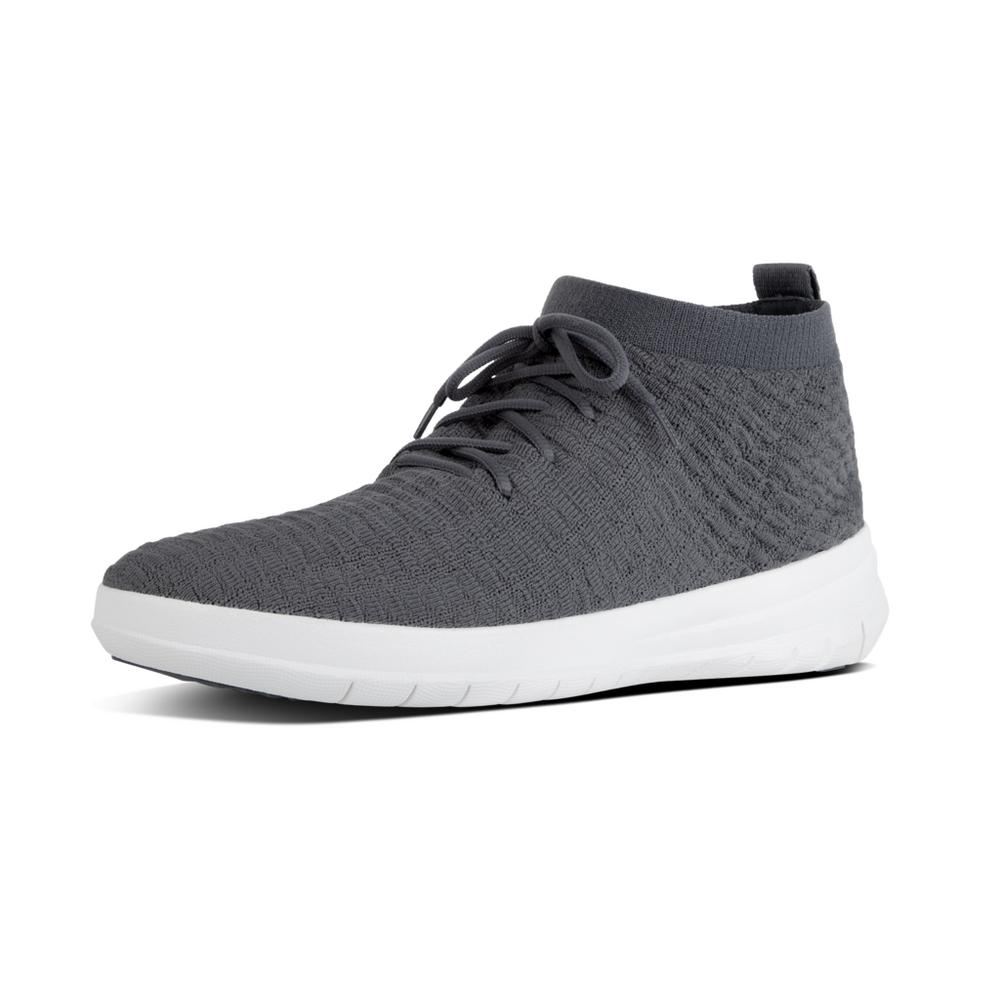 mens knit high top sneakers