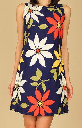 60's floral mod dress