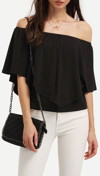 black-ruffle-off-the-shoulder-blouse
