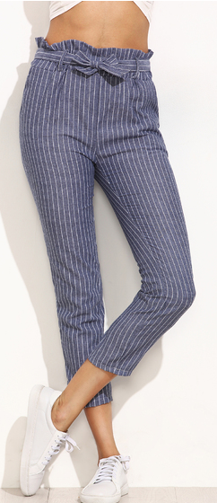 blue-striped-ruffled-tie-waist-pants