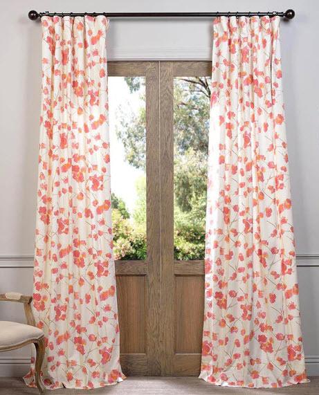 exclusive-fabrics-dogwood-printed-cotton-curtain-panel