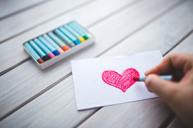 coloring a heart