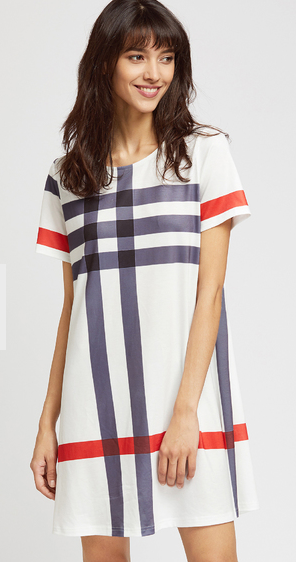 multi-checkered-tee-dress