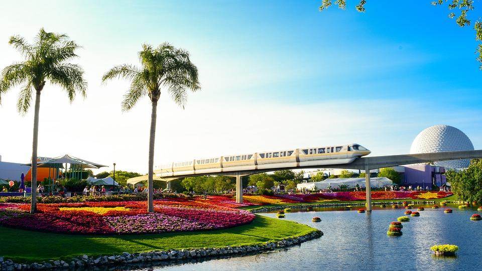 Epcot Center and Monorail in Orlando