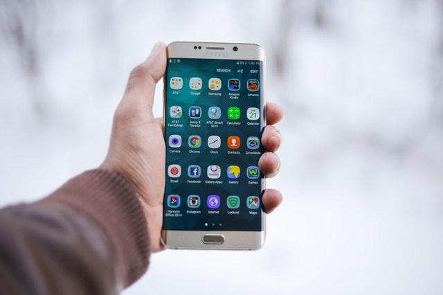 smart phone in hand