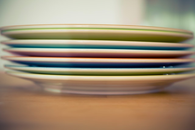 stacked plates