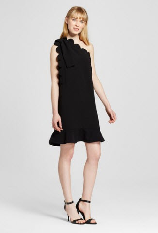 one-shoulder-dress-with-bow-and-scallop-trim